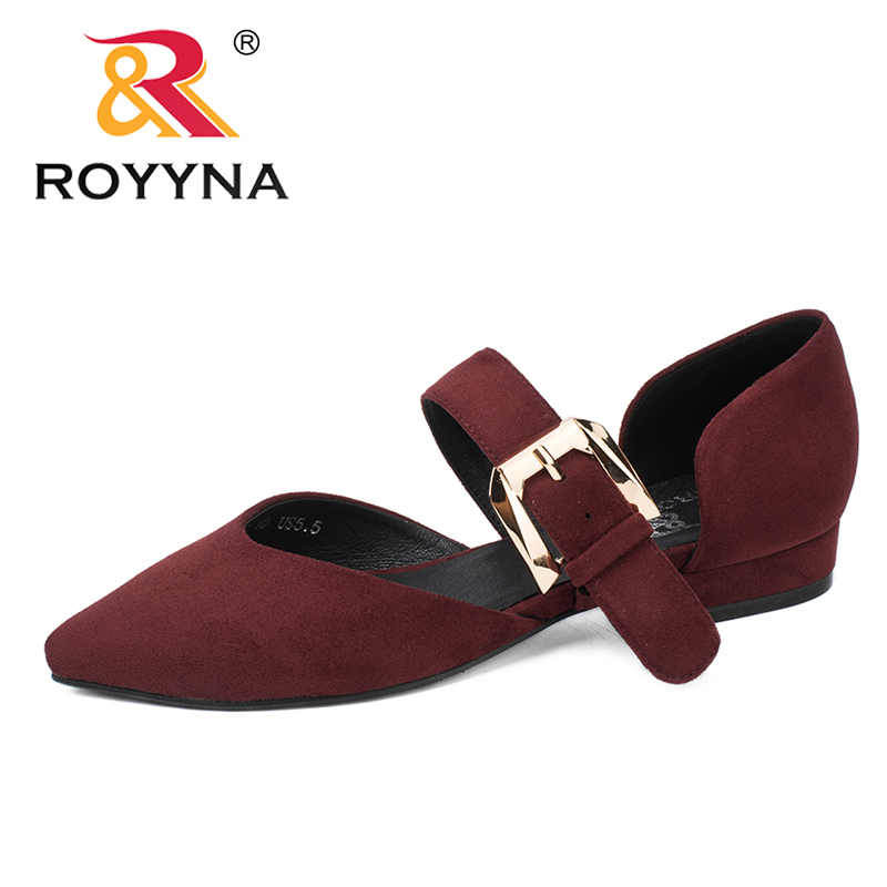 ROYYNA New Fashion Style Women Pumps Pointed Toe Square Heels Buckle Stap Lady Wedding Shoes Comfortable Light Free Shipping royyna new fashion style women pumps round toe women dress shoes high heels women office shoes slip on lady wedding shoes