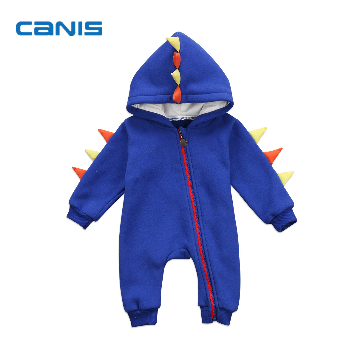 2017 Brand New Cartoon Newborn Toddler Infant Baby Boy Girl Long Sleeve Hoodie Romper Dinosaur Jumpsuit Outfits Dragon Clothes spring brand romper baby boys girls clothes children toddler long sleeve jumpsuit cartoon newborn infant cardigan coat clothing