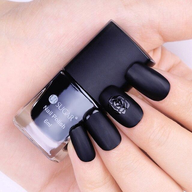 Ur azúcar negro mate Esmaltes de uñas manicure Manicura polaco ...