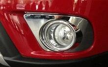 2Pcs for Dodge Journey 2013-2015 Front / Rear Fog Lamp Frame Rear Fog Lamp Side Strip Decorative