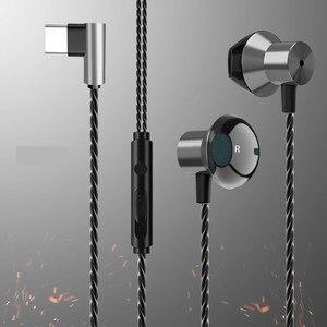 Image 2 - หูฟังสำหรับเล่นเกมหูฟังประเภท C สายควบคุมชุดหูฟังสเตอริโอกีฬาหูฟังพร้อมไมโครโฟนสำหรับ Xiaomi Huawei Samsung SH *