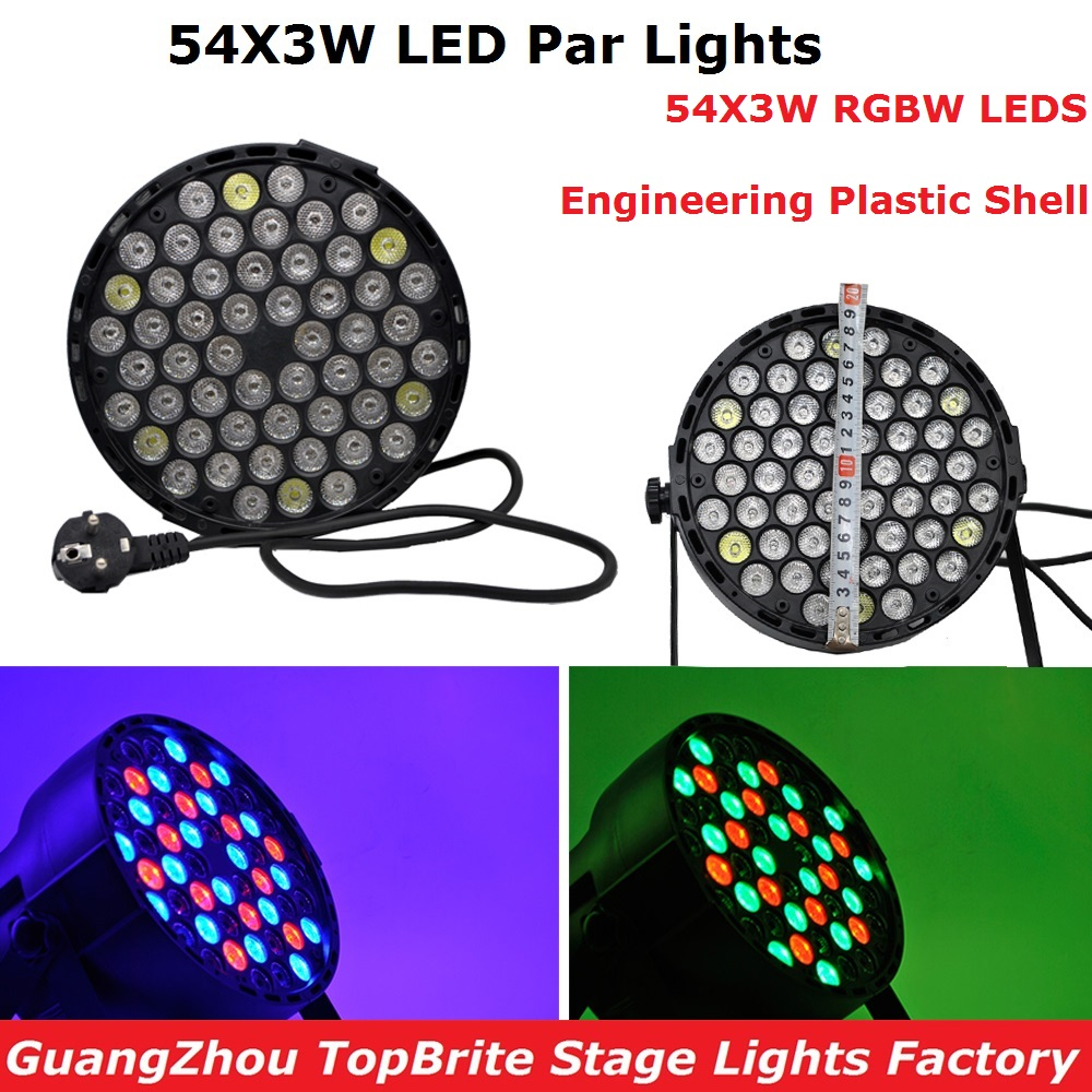 LED Par 54X3W RGBW LED Stage Lights LED Par Lights DMX512 Control For Dj Disco Projector XMAS Party Professional Stage Lights free shipping 54x3w flat led par light rgbw best quality par can dmx512 disco dj home party ktv led stage effect projector page 3