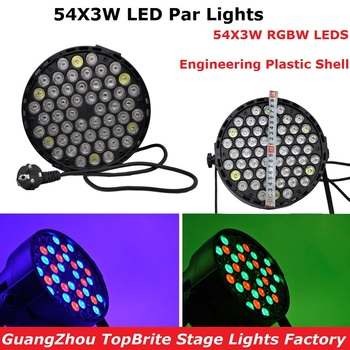 hot 2015 par led 54x3w flat led par can light high power rgbw stage lights with dmx512 master slave dj disco dmx home equipments LED Par 54X3W RGBW LED Stage Lights LED Par Lights DMX512 Control For Dj Disco Projector XMAS Party Professional Stage Lights
