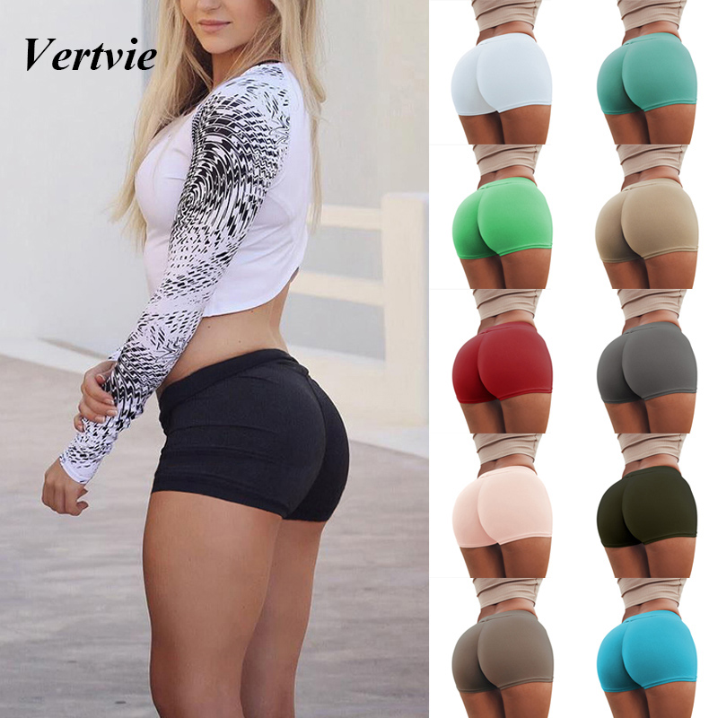 Vertvie Sexy Heart Pattern Yoga Shorts Women Push Up Running Gym Bottoms Tights Breathable Slim Fitness Workout Sport Short
