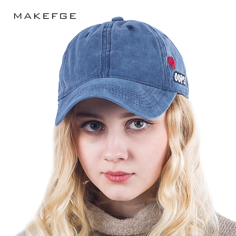 hot Wholesale cotton embroidery letter OOPS baseball caps  Washed Women Solid Color Dad Hat Men Bone Snapback Hat Couple cap cntang brand summer lace hat cotton baseball cap for women breathable mesh girls snapback hip hop fashion female caps adjustable