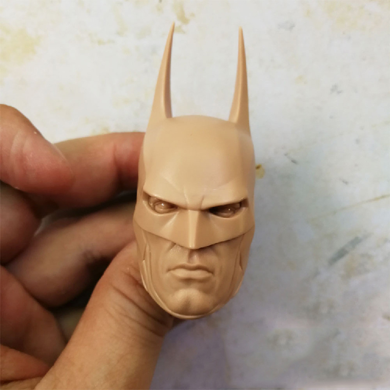 1 6 Arkham Knight Unpainted Head Silent Version for 12 39 39 Action Figures Bodies in Action amp Toy Figures from Toys amp Hobbies