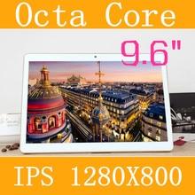 9.6 «планшетный ПК 3 г 4 г планшетный Окта Core 1280*800 ips 5.0mp 4 г/128 ГБ клавиатура android 5.1 gps bluetooth Dual sim-карты Телефона вызова