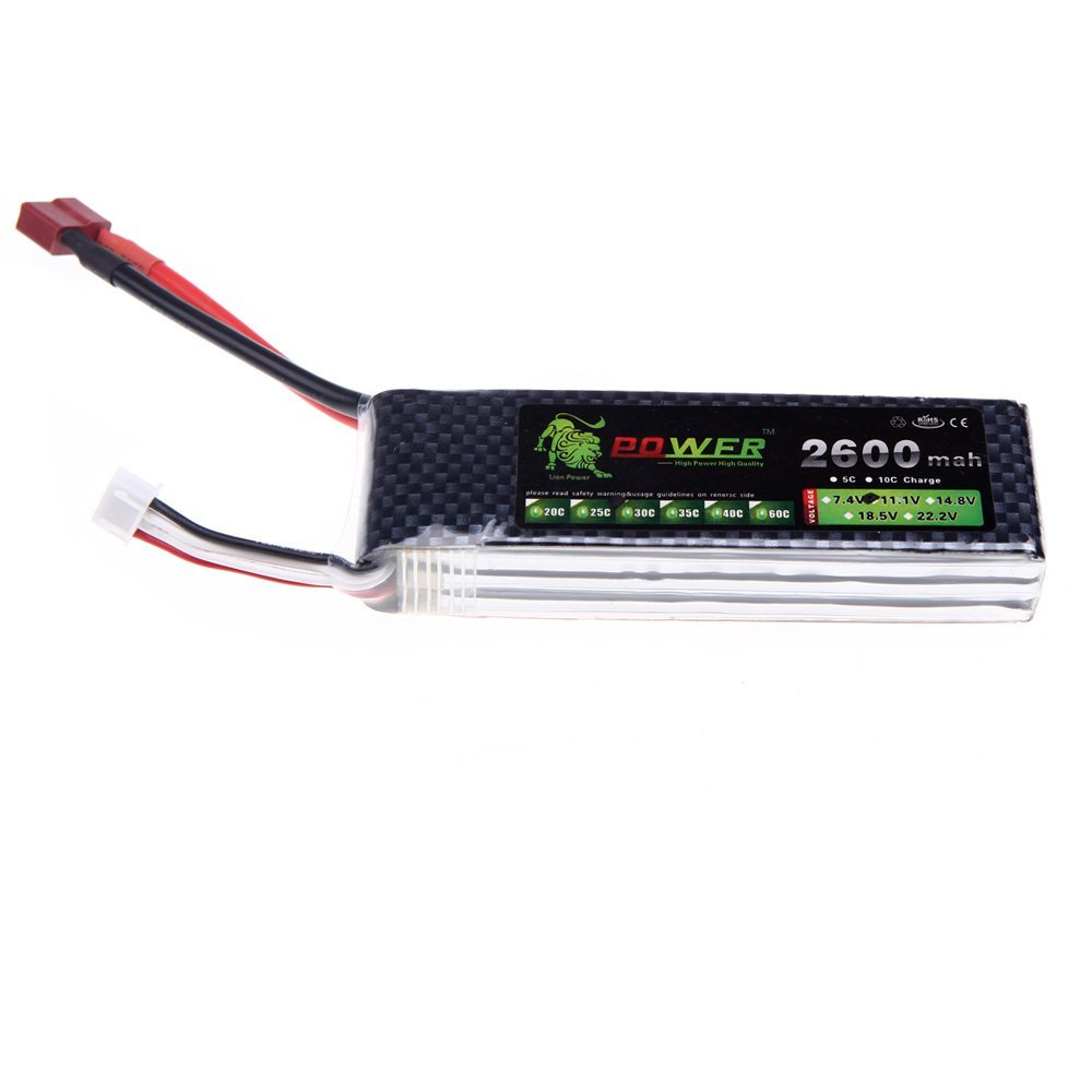 11.1V 2600Mah 30C MAX 45C Lion Power Lipo Battery With T Plug for RC Car Airplane Align TREX 450 Helicopter Part 1pcs lion power lipo battery 11 1v 1200mah 25c max 40c t plug for rc car airplane helicopter