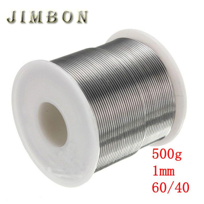 JimBon 1mm 500g Colofonia Nucleo Saldatura 60/40 Pb 2.0% Flux Saldatura Filo di Ferro Reel