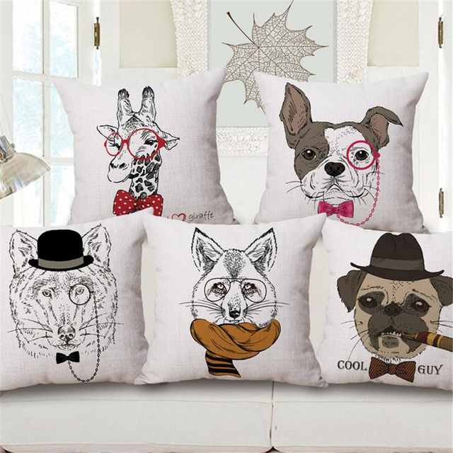 Cute Dachshund Pug Dog Animal Cartoon Decorative Office Chair ...