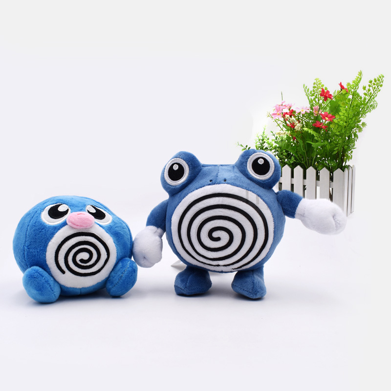 2 Styles Animal Cartoon Plush Peluche Doll Poliwag Poliwhirl Soft Stuffed Hot Toy Great  Gift For Children