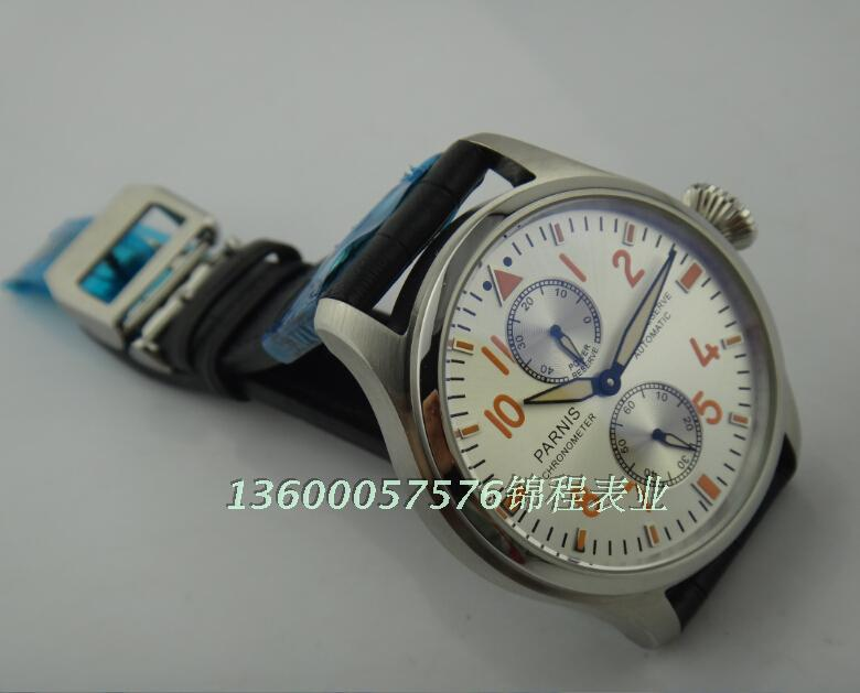 47mm PARNIS ST2530 seagull movement big pilot automatic male table energy according to Good quality watch