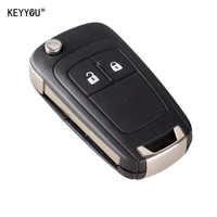 KEYYOU 10X étui à clé à distance pliable pour OPEL VAUXHALL Insignia Astra 2 boutons HU100 lame non coupée