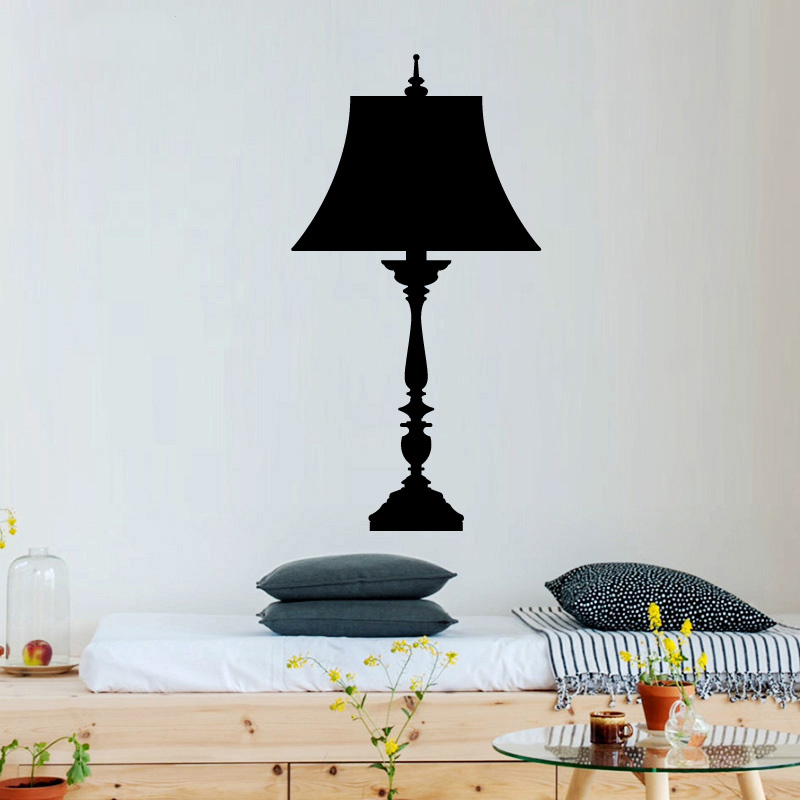Cocoplay beautiful floor lamp modern fashion wall sticker - Stickers decorativos para paredes ...
