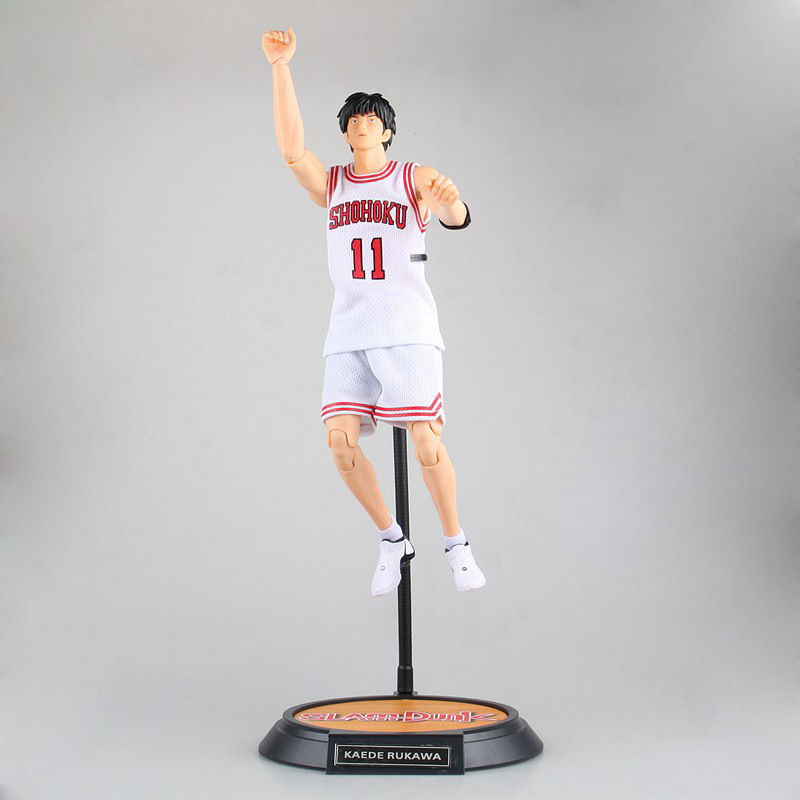 34CM Japanese classic anime figure SLAM DUNK Rukawa Kaede No.11 action figure collectible model toys for boys japanese anime figures 23 cm anime gem naruto hatake kakashi pvc collectible figure toys classic toys for boys free shipping