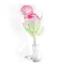 Creative Flowers Shaped Plug-Typed Plastic LED Nightlight