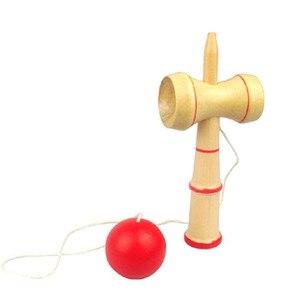 Image 3 - Hohe Qualität Kid Kendama Koordinieren Kugel Japanisches Traditionelles Hölzernes Spiel Geschicklichkeit Pädagogisches Spielzeug