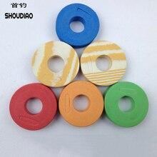 SHOU DIAO 100pcs/Set Fishing winding Board Sponge Line Boards Winding Foam Tools New