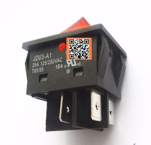 Image 1 - 8ชิ้นJD03 JD03 A1 25A 250VACโยกสวิทช์ปุ่ม