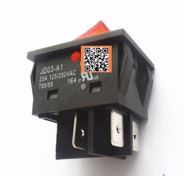 8ชิ้นJD03 JD03 A1 25A 250VACโยกสวิทช์ปุ่ม
