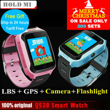 2017 New Hold Mi Q528 Y21 Touch Screen Kids GPS Watch with Camera Lighting Smart Watch Sleep Monitor GPS SOS Baby Watch PK Q60
