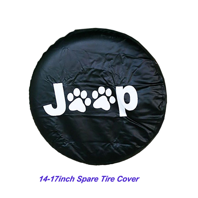 14 17inch Tire Cover PVC Spare Tire Cover Fit For Jeep Wrangler JK Sports Sahara Rubicon X Unlimited 2/4 DR Accessories