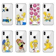 Funda rígida de lujo para teléfono móvil con dibujos animados de moda de simbsons, para iPhone 11 Pro MAX 5 5S SE 6 6S Plus 7 8 Plus X10 XR XS MAX