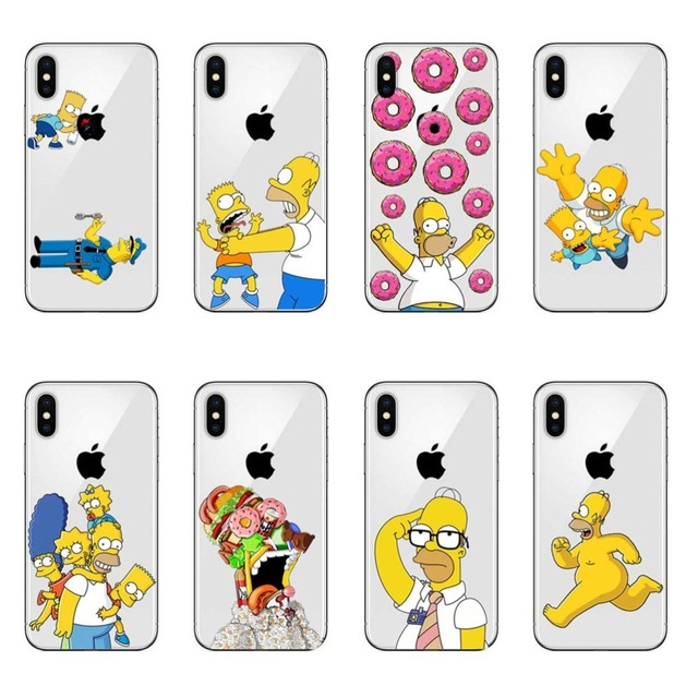 Lüks sert PC telefon kılıfı Simpsons moda çizgi film Anime iPhone 11 Pro MAX 5 5S SE 6 6S artı 7 8 artı X10 XR XS MAX