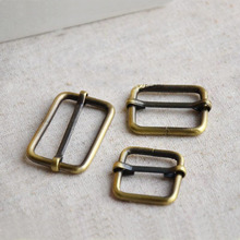 50pcs/lot Metal adjustable square ring buckles garment belt DIY Needlework Luggage Sewing handmade Bag purse buttons LW0462