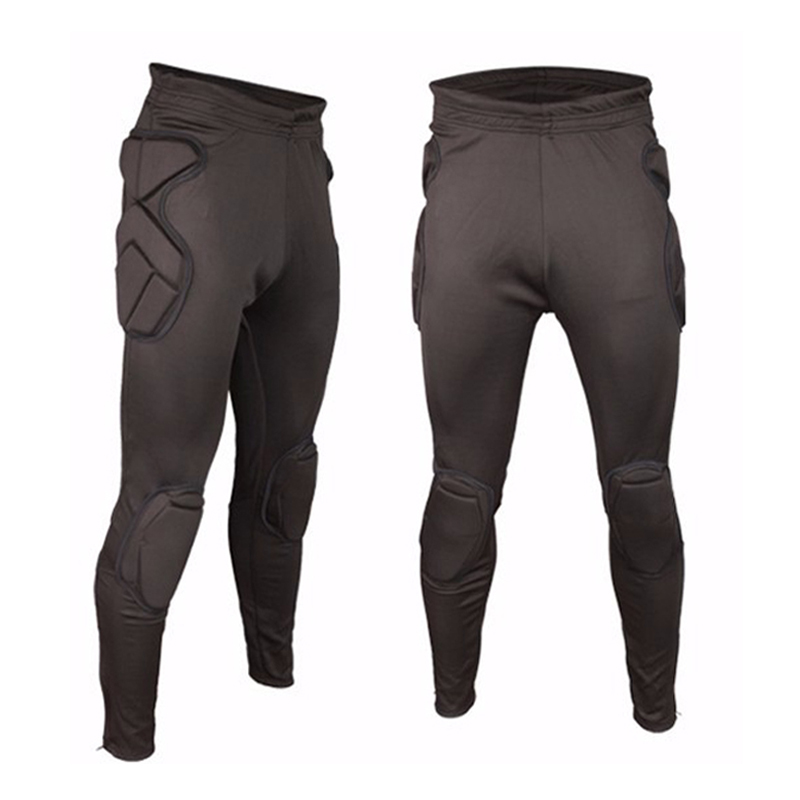 2017 Men Soccer Goalkeeper Pants Shorts Sponge Protection Slim Skinny Training Football Goal Keeper Goalie Clothing Sweatpants cut and sew skinny sweatpants
