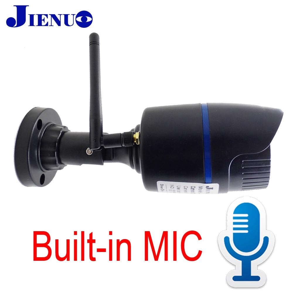 JIENU Câmera IP Sem Fio 720 p 960 p 1080 p casa de Segurança CCTV Ao Ar Livre À Prova D' Água cam Suporte slot para cartão Micro sd ipcam wi-fi MICROFONE Embutido