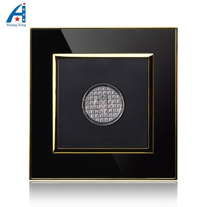 Touch time delay switch light Switch, lamp delay wall Timer switch, Luxury Black Crystal acrylic panel, Free shipping