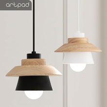 Artpad Modern Nordic Wood E27 Pendant Light Lampshade Kitchen Bar Bedroom Study Living Room Hanging Fixture Lighting