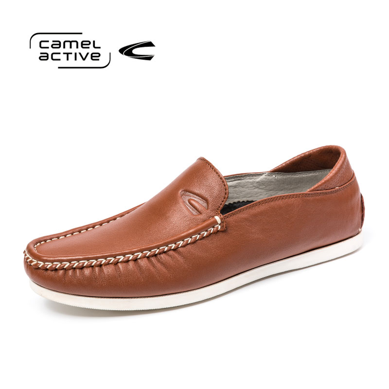 Camel Active Brand New Spring Autumn Genuine Leather Men Shoes Comfortable Slip-On Men Loafers Fashion Casual Men Flats Shoes mycolen new brand men casual shoes leather slip on wear resistant men shoes spring autumn comfortable soft carrefour shoes