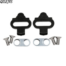 QILEJVS SPD MTB Bike Cleats Pedal Clipless Cleat Set Racing Riding Equipment For Wellgo WPD-98A Shimano SH51 SH55 SH56