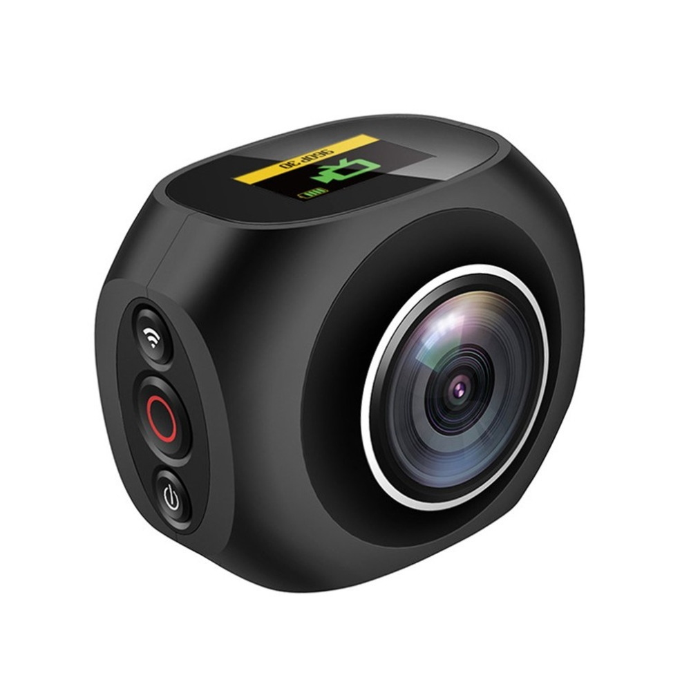 HOT 4K HD 360 Degree Panoramic Camera VR Mini Handheld Unique Dual Lens Camera WiFi Video Action 12 million pixel Camera Pano magicsee 3k hd mini 360 camera live panoramic camera portable pocket vr camera dual lens camera 360 for type c micro usb phones