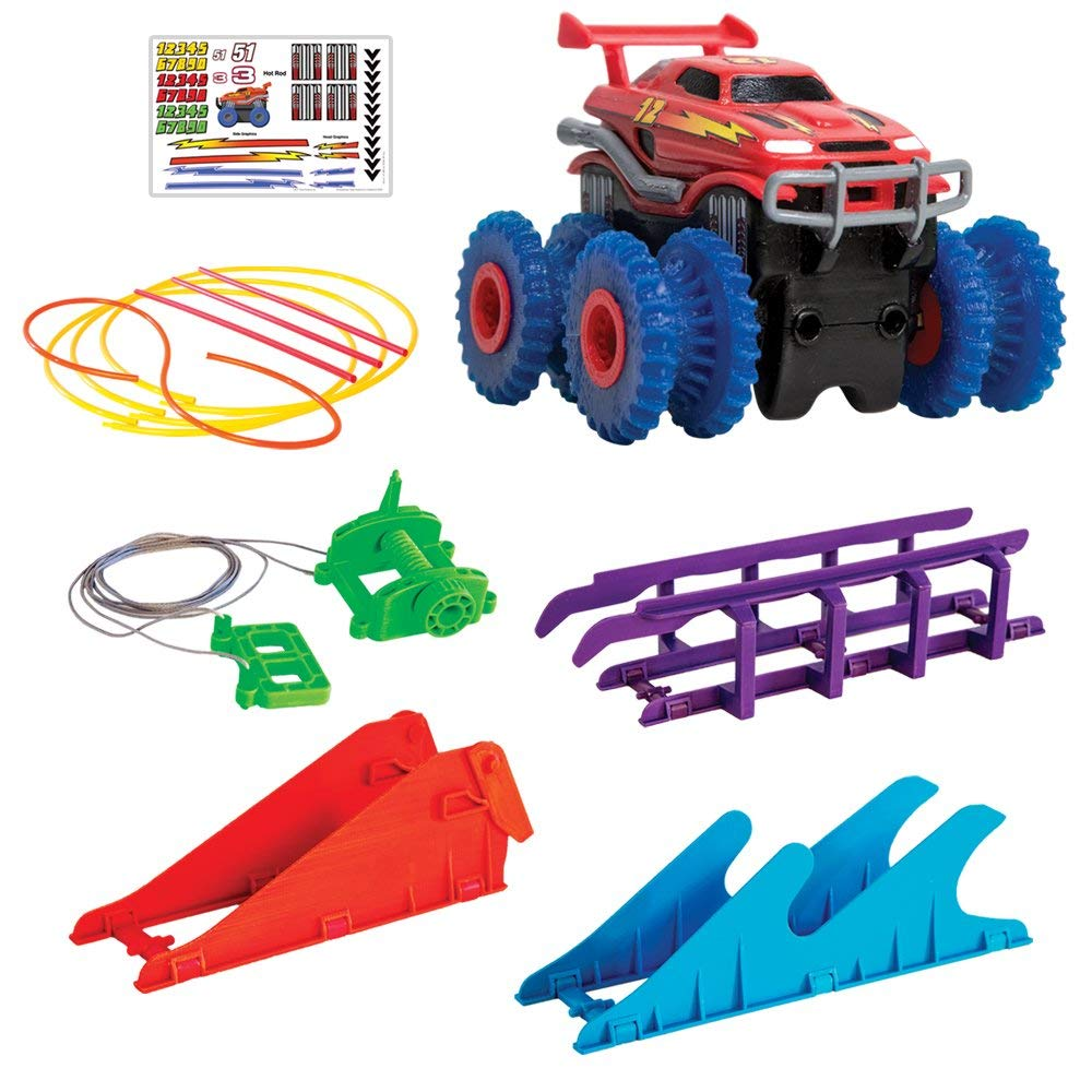 TRIX TRUX Monster Trucks That Flip, Climb And Zip - Line Powerful 4 Wheel Drive