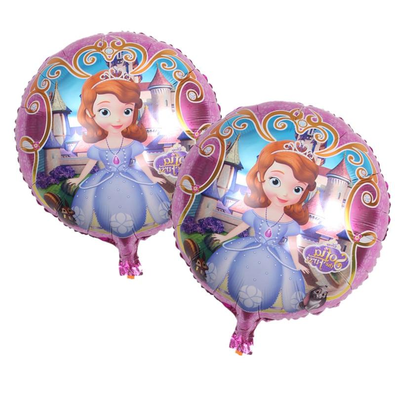 18 inch cute balloon princess sofia birthday balloons helium balloon princesa so