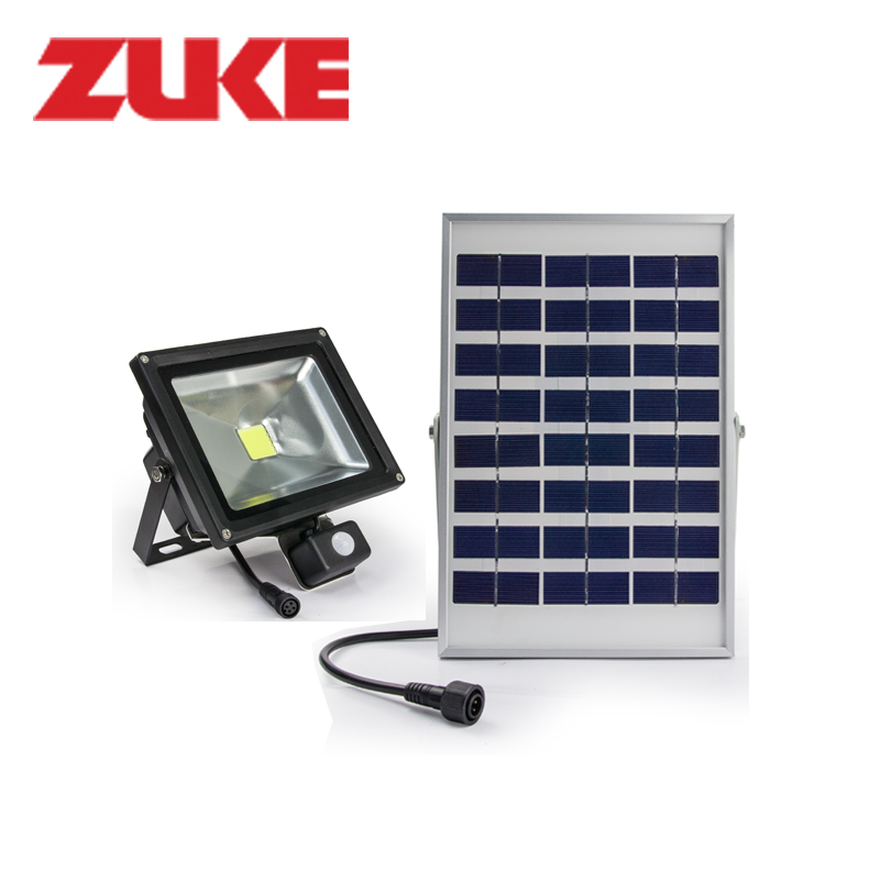 Zuke 4W Solar Panel Powered Outdoor Led Garden Lights 3.2W Motion Sensor Floodlights Waterproof Street Night Lamps