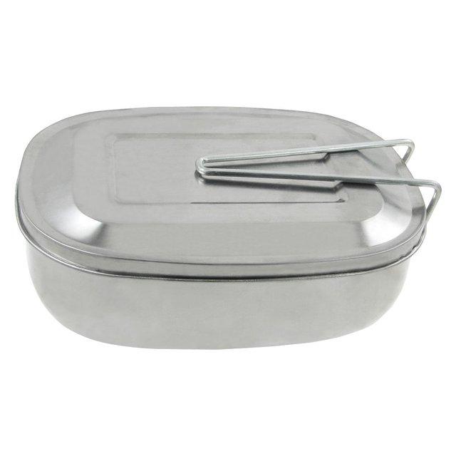 Atacado 10 * Tom de Prata Caso Estanho Bagunça Piquenique Lunch Box w Handle