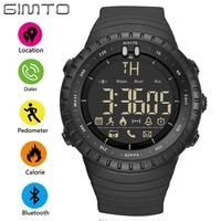 GIMTO Cool Black Men Sport Smart Watch Digital LED Male Military Electronic Wrist Watches Pedometer Smartwatch