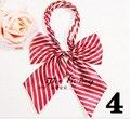 Bow tie Roupas & Acessórios NEW Borboleta laços listras Vermelhas e brancas bowtie Feminino e Meninas