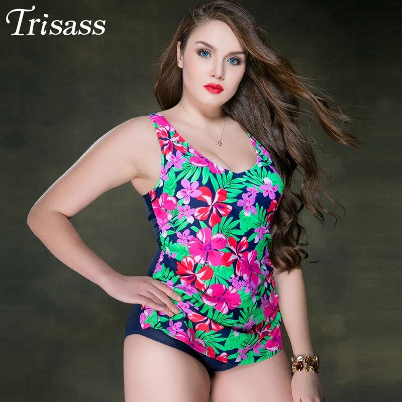 Trisass 2017 New Hot Sexy One-piece Swimsuit Swimwear Summer Beach Bathing Suit Women Bikini Set Skirtini Conservative Print one piece swimsuit cheap sexy bathing suits may beach girls plus size swimwear 2017 new korean shiny lace halter badpakken