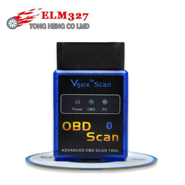 Lowest Price Vgate elm327 V1.5 obd2 Bluetooth vgate scanner OBD2 / OBDII mini elm 327 v1.5 support J1850 code Reader scanner