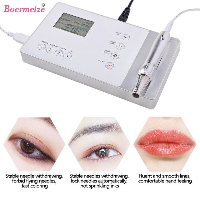 Tattoo Machine Kit set digital Permanent Makeup Tattoo device kit Professional Siwss Motor Tattoo Power Supply for Eyebrow Lip