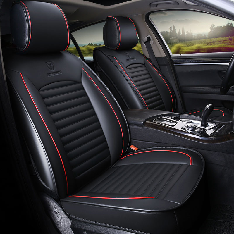 Leather car seat cover seats covers automobiles cushion for nissan livina note pathfinder patrol y61 primera altima sentra versa