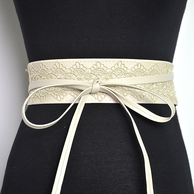 Badinka 2018 New Black White Red Wide Corset Lace Belt Waist Female Obi Waistband Belts for Women Waist Band Ceinture Femme