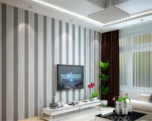 Beibehang Mur Papier Simple Mode Classique Rayures Vives Vertical Et