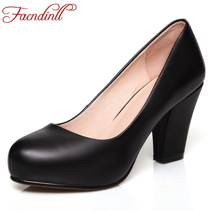 cFACNDINLL classic women shoes fashion soft leather women pumps round toe high heels lady platform dress office shoes plus size 2017 gladiator shoes women high heels slip on women pumps solid color round toe elegant high quality dress office lady shoes