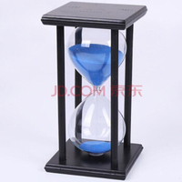 Creative time Solid wood glass Color sand Hourglass Timer 30 minutes Decoration Home study office gift small